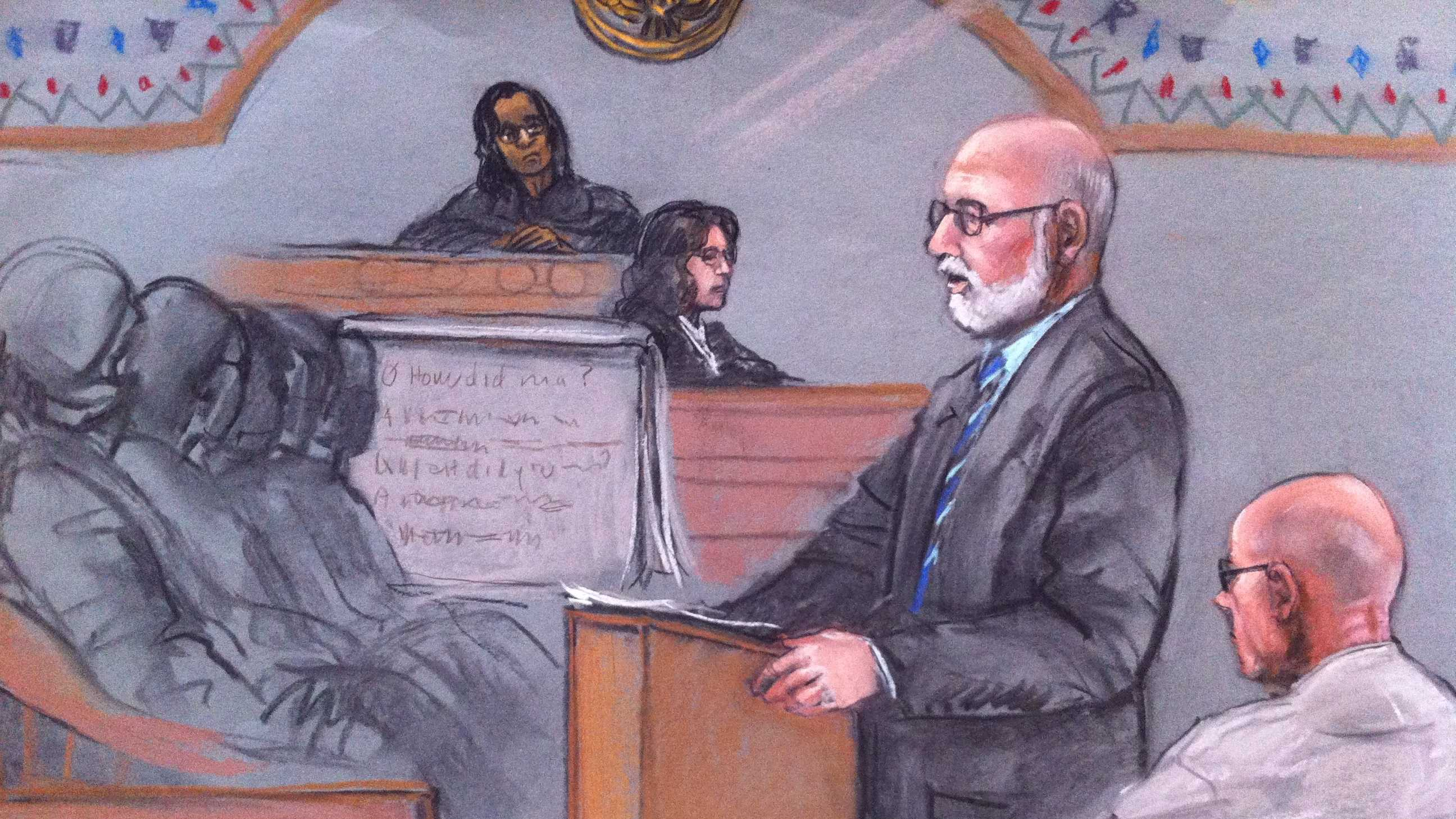 Bulger attorney Carney Sketch