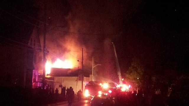 Firefighters battling four-alarm blaze in Brockton