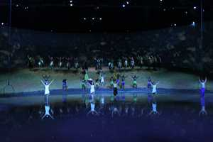 The performers take many bows at the end of the performance