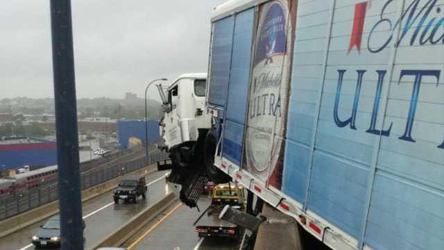 BFD beer truck crash 2