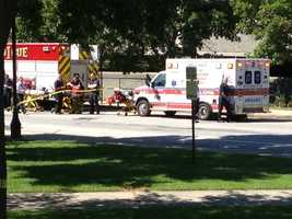 Several ambulances were called to the scene.