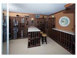 A climate controlled wine room.