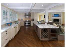 A large gourmet kitchen awaits your cooking skills.