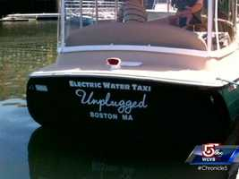 Owner Steve Goyette operates the harbor's only solar-powered taxis.