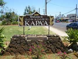 9.) Kapa'a, Hawaii