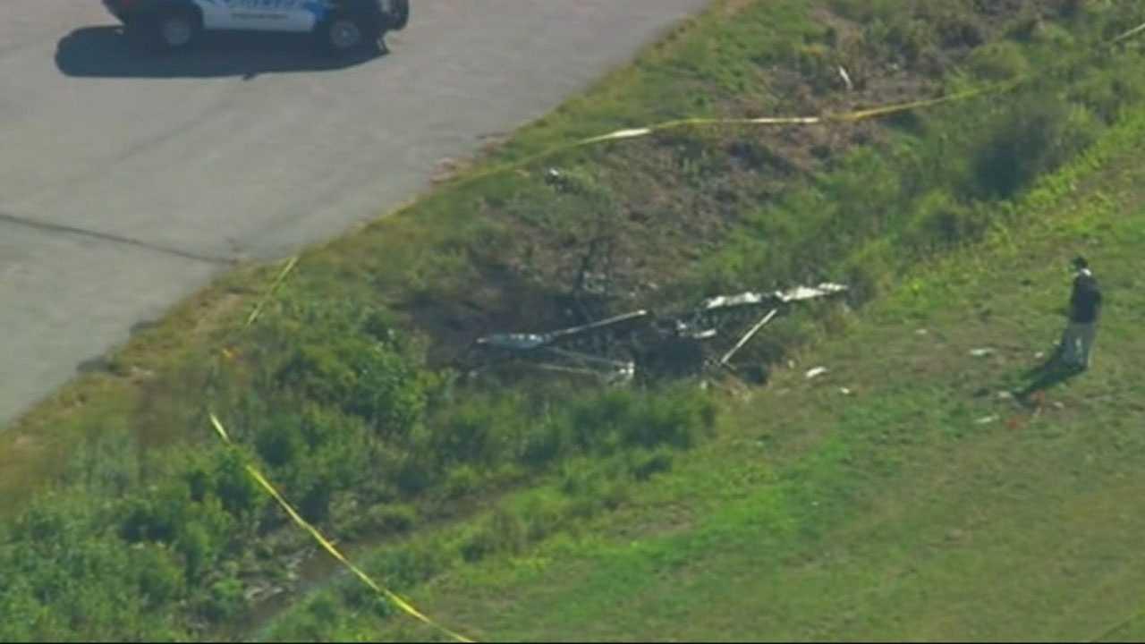 Aerial Taunton plane crash