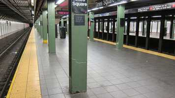 The New York City Subway system suspended service systemwide for the first time in its history in advance of Hurricane Irene.