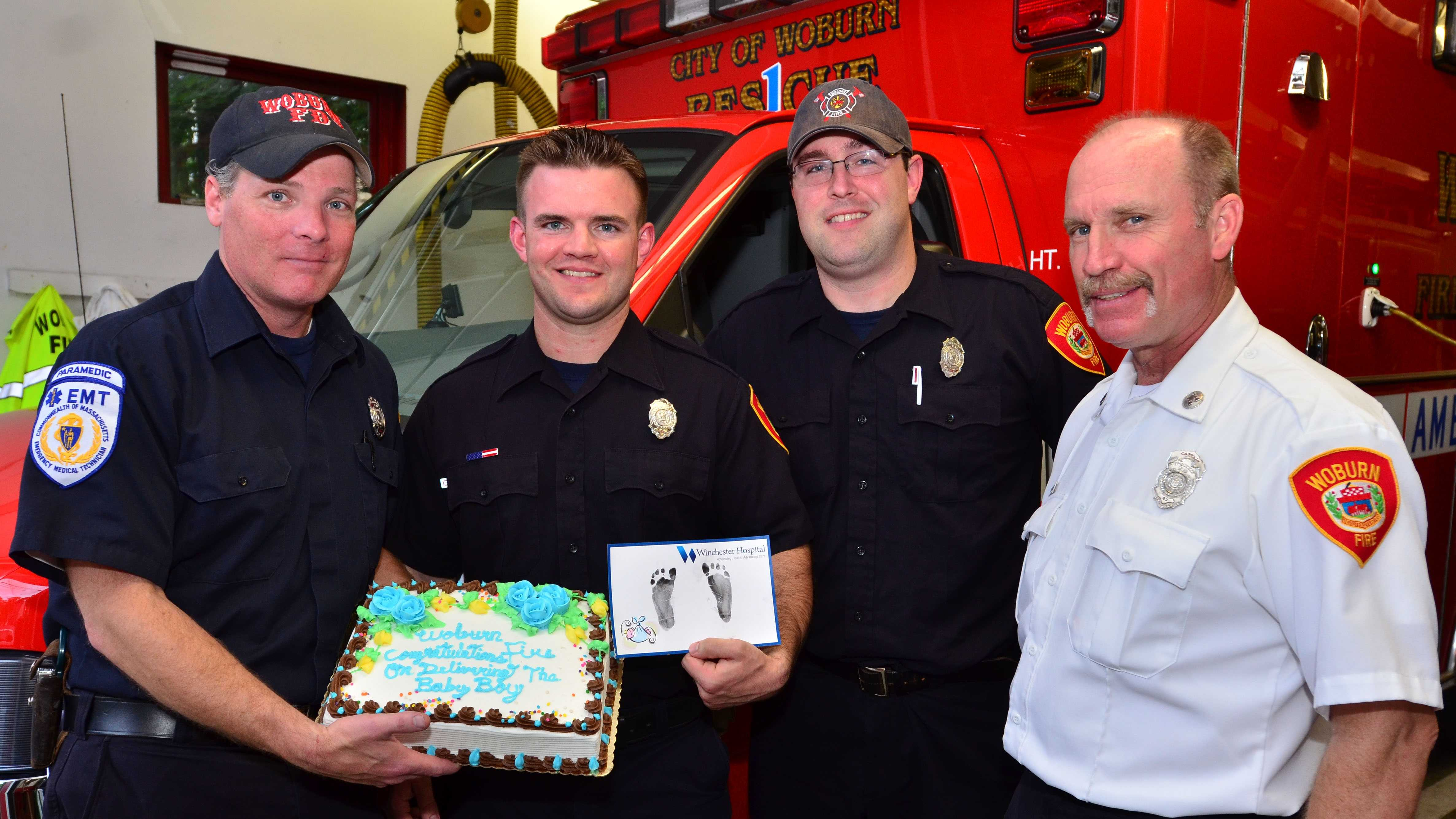 Woburn firefighters assist in delivery of newborn