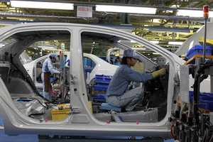 Toyota is the world's largest car manufacturer. About 13,000 are produced every day.