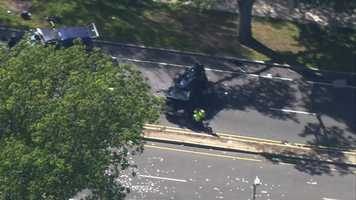 Several teenagers suffered life-threatening and critical injuries in a crash on the Arborway in Jamaica Plain Friday afternoon, Massachusetts State Police said.