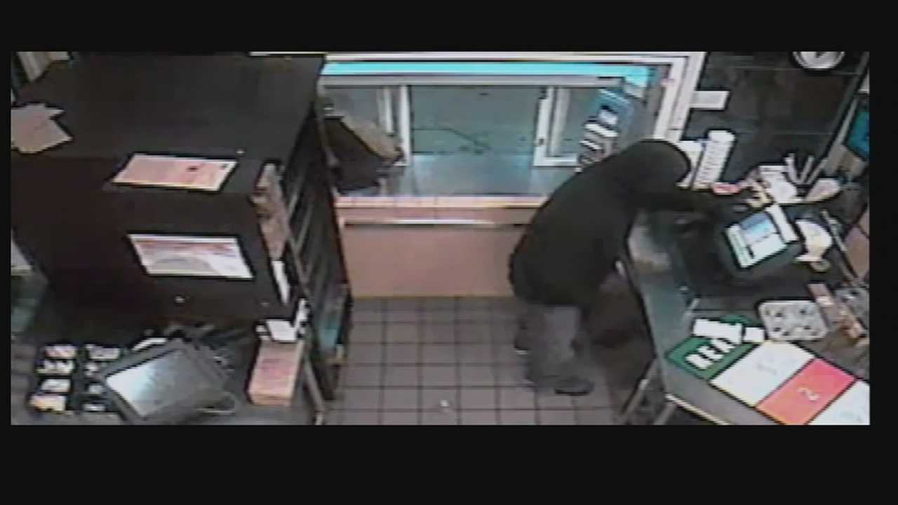 Surveillance video captures Dunkin robbery