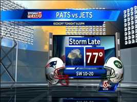 There's a chance Thursday night's New York Jets vs. New England Patriots game at Gillette Stadium in Foxborough could be affected by weather. Here's a look at weather conditions hour-by-hour.