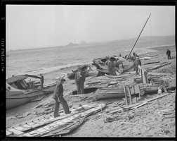 Thousands of boats were reduced to splinters and 2/3 of all the boats in New Bedford harbor sank.