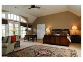 The large master suite.