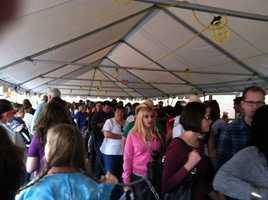 A long line waits for Maine potatoes
