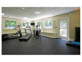 An exercise room.