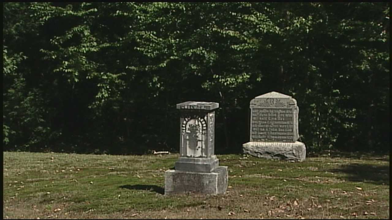 Granite obelisk stolen from graveyard