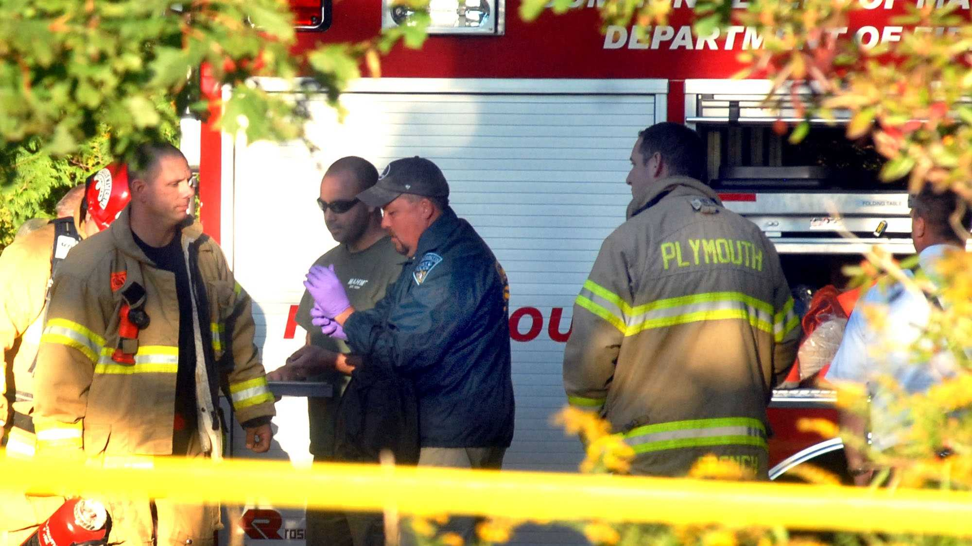 Hazardous materials team at Plymouth home