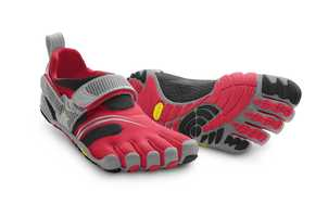 Vibram FiveFingers -- Vibram comes from the creator's name Vitale Bramani, and FiveFingers is the English translation for toes in Italian.