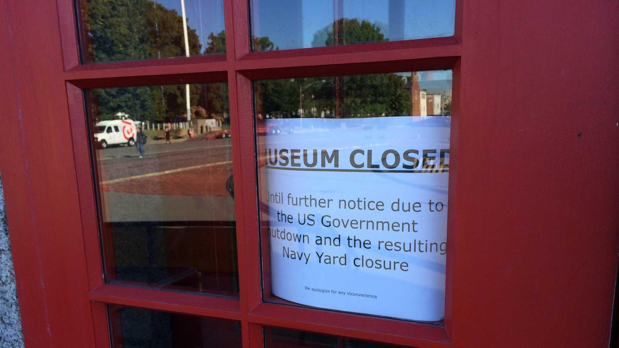 USS Constitution closed sign
