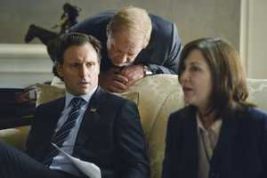 "With Olivia's name out there as the President's mistress, both the White House and Pope & Associates face their biggest scandal to date, and a surprise allegiance is formed in order to get things handled. Meanwhile, Olivia's father, Rowan, will stop at nothing to carry out his orders and no one, including Olivia, can stand in his way, on the Season 3 Premiere of ""Scandal"". (Photo: ABC/Eric McCandless)"