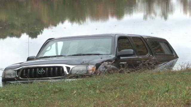 Truck into water