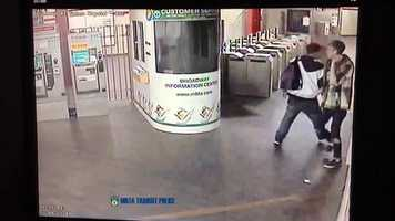 One of two suspects sought in connection with the vandalism at the station has surrendered to authorities. He will be summoned to court at a later date.