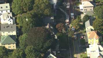 A fire tore through a Milton home Wednesday morning.