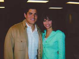 Tedy Bruschi, formerly of the New England Patriots, was another of Liz's memorable interviews.