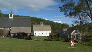 Scott Farm is high above the Connecticut River in Dummerston, Vermont.