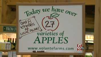 Volante Farms apples are from local orchards.