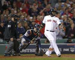 """Mr. October!""With one swing, David Ortiz tied the game and helped the Boston Red Sox send the AL championship series to Detroit tied one game apiece.Ortiz's grand slam erased an eighth-inning deficit and ended Detroit's unprecedented run of pitching dominance, then Jonny Gomes scampered around the bases with the game-winning run in the ninth to give Boston a 6-5 victory over the Tigers on Sunday night."