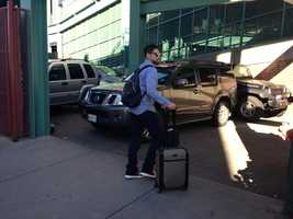 Jacoby Ellsbury arriving at Fenway Park