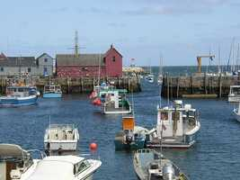 #2 (tie) The town of Rockport was first settled in 1623, it was incorporated in 1840.