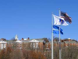 29. Bentley University in Waltham -4.7% of scores sent to school.