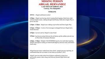 Timeline of the last moments the girl was seen.
