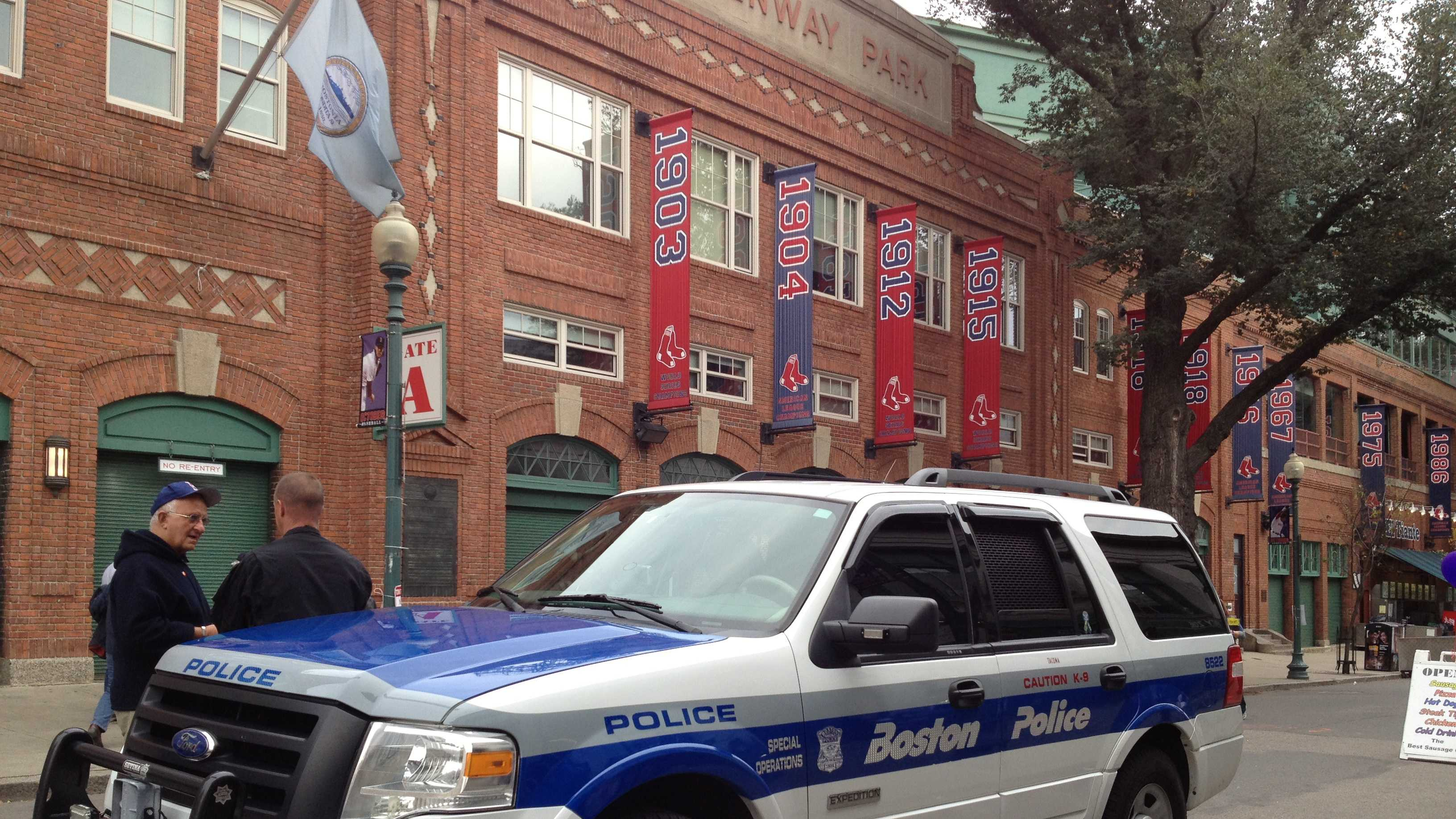 Police at Fenway