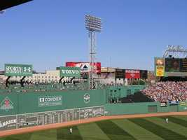 The Green Monster was originally blue with white advertisements. It was painted green in 1947.