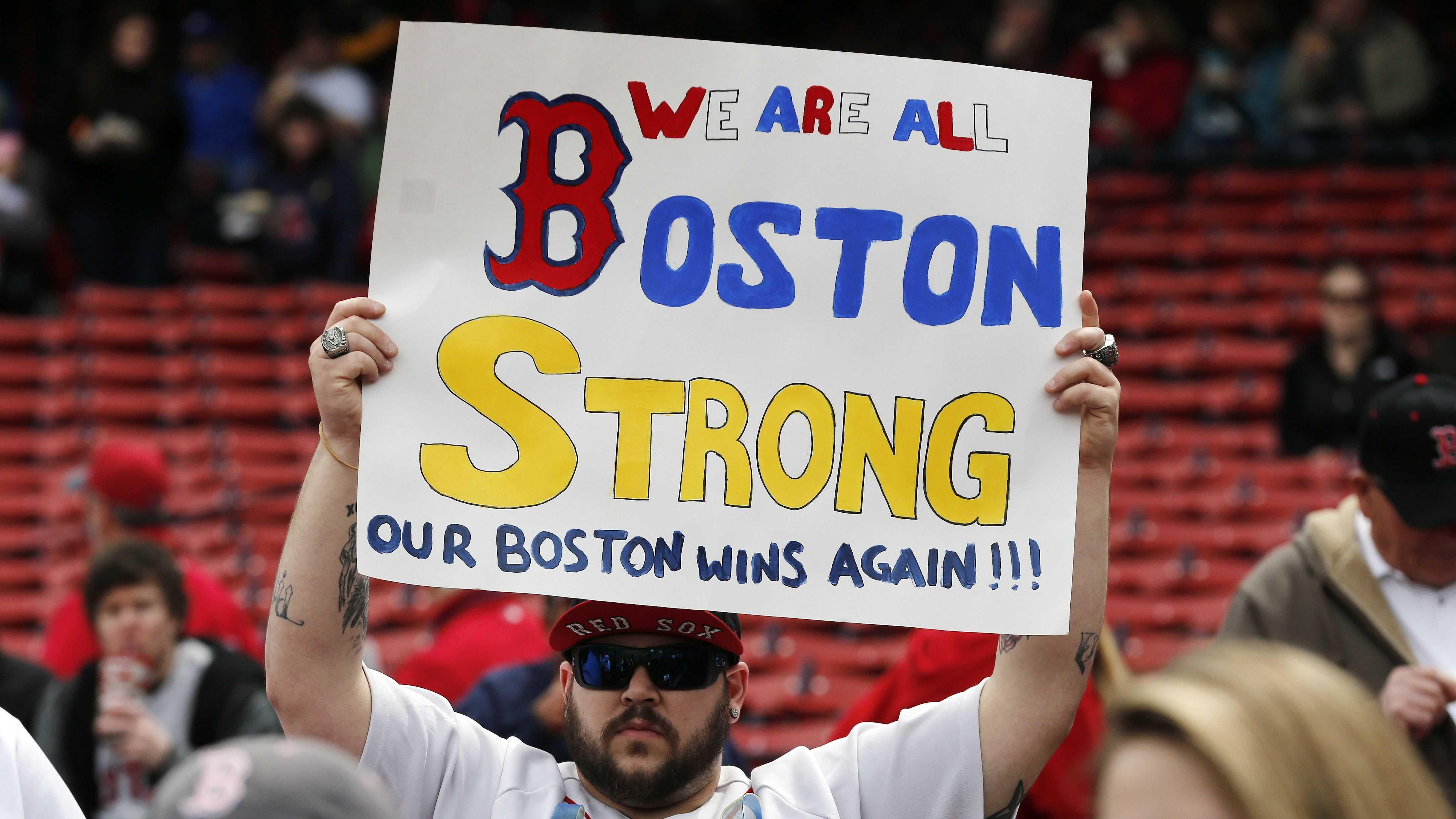 Red Sox Fan Boston Strong 102113