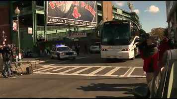 The Boston Red Sox are headed to St. Louis for Game 3 of the World Series.