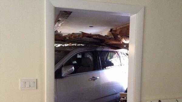 SUV inside home 1029
