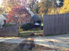 A SUV crashed into a home in Newton on Tuesday.