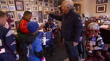 Bob Kraft and the New England Patriots made some wishes come true on Saturday for kids in the Make-a-Wish organization.