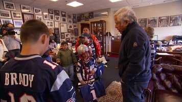 Take a look at some of the shots from their trip to Gillette Stadium.
