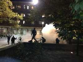 Students at UMass rioted.