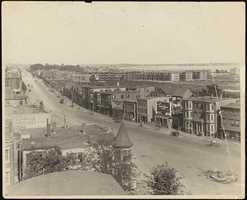 Bennington Street at Day Square in 1918