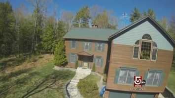 Mr. Coushane flew his quad-copter over his house, and posted the video online.