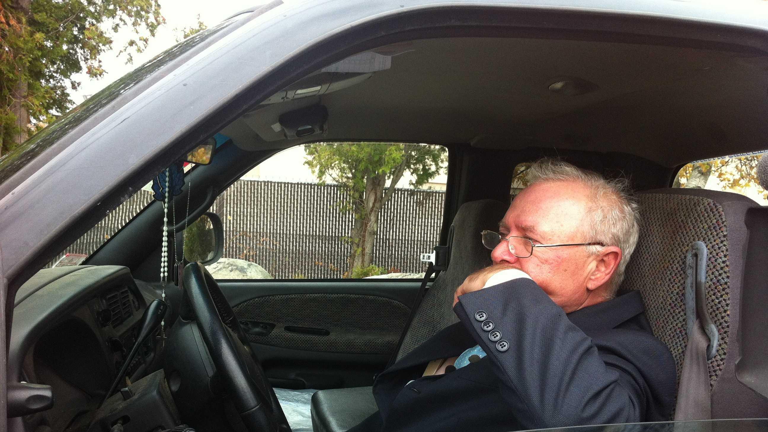 Paul Monti in truck