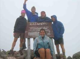 Sam Brakeley & friends along the Appalachian Trail, 2008