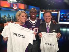 Matthew Slater with NewsCenter 5's Heather Unruh and Ed Harding.